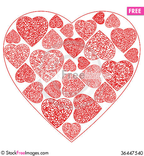 Free Heart Drawing Stock Photo - 36447540