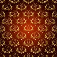 Free Damask Seamless Floral Pattern. Stock Images - 36442184