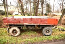 Free Red Trailer Royalty Free Stock Photos - 36442928