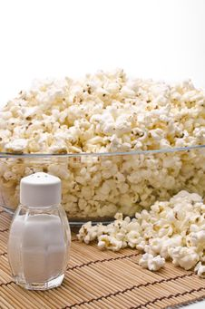 Salt And Popcorn Royalty Free Stock Photography