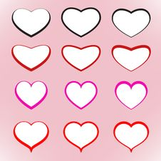 Hearts For Your Design Stock Photos