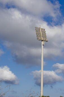 Soccer Stadium Flood Lights Stock Images