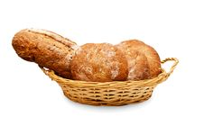 Fresh White Bread Isolated Stock Image