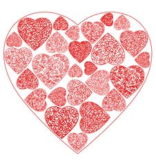 Free Heart Drawing Stock Photo - 36447540
