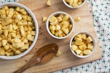 Free Apples In Baking Dishes Royalty Free Stock Photography - 36448597
