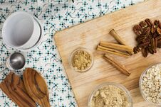 Cinnamon And Spices Stock Photo