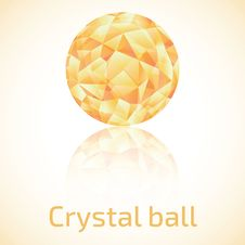 Free Abstract Triangle Crystal Ball Royalty Free Stock Photos - 36448928