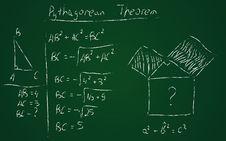 Free Hand Drawn Pythagorean Theorem Stock Photos - 36448963