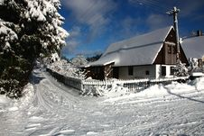 Free Cottage In Winter Royalty Free Stock Photo - 36449325