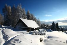 Free Cottage In Winter Stock Photos - 36449463