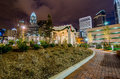 Free December 27, 2014, Charlotte, Nc, Usa - Charlotte Skyline Near R Royalty Free Stock Photography - 36459217