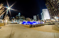 Free December 27, 2014, Charlotte, Nc, Usa - Charlotte Skyline Near R Royalty Free Stock Images - 36459459