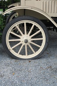 Antique Truck Wheel And Fender Royalty Free Stock Photo