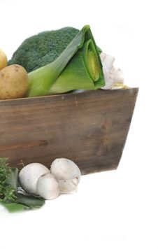 Seasonal Vegetables And Mushrooms Stock Image
