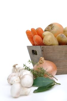 Vegetables  With Onions And Mushrooms Stock Images