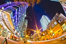 Free December 27, 2014, Charlotte, Nc, Usa - Charlotte Skyline Near R Royalty Free Stock Images - 36458609