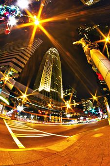 Free 1st January, 2014, Charlotte, Nc, Usa - Nightlife Around Charlot Royalty Free Stock Image - 36458936