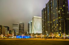 Free December 27, 2014, Charlotte, Nc, Usa - Charlotte Skyline Near R Royalty Free Stock Photos - 36459168