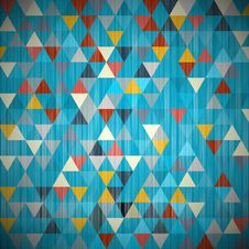 Textile Triangle Background