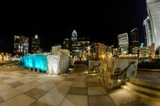 Free December 27, 2014, Charlotte, Nc, Usa - Charlotte Skyline Near R Stock Image - 36459321