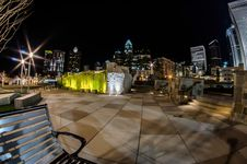 Free December 27, 2014, Charlotte, Nc, Usa - Charlotte Skyline Near R Stock Photography - 36459362