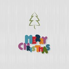 Free Background With Tree And Paper Merry Christmas Title Royalty Free Stock Photos - 36459418