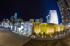 Free December 27, 2014, Charlotte, Nc, Usa - Charlotte Skyline Near R Stock Photography - 36459492