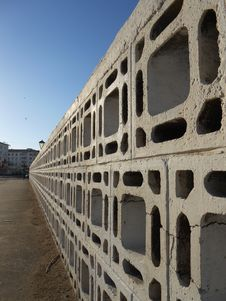 Free Fence Of Concrete Blocks Royalty Free Stock Photography - 36459547
