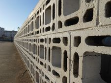 Free Fence Of Concrete Blocks Stock Photos - 36459583
