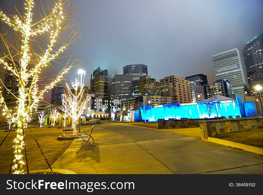 December 27, 2014, charlotte, nc, usa - charlotte skyline near r