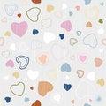 Free Retro Textile Seamless Hearts Pattern Royalty Free Stock Photo - 36460115