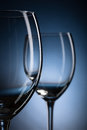 Free Two Empty Wine Glasses Royalty Free Stock Photography - 36463667
