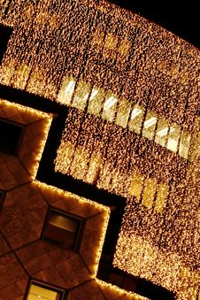 Free Glittering Lights On Store Front Stock Images - 36460444