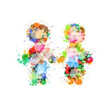Free Two People Holding Hands Made From Colorful Splashes Royalty Free Stock Photo - 36460635