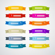 Free Colorful Ribbons, Labels Set Royalty Free Stock Photography - 36461807