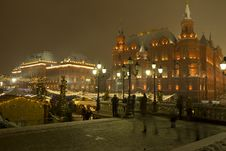 Free Russia. Moscow. Winter. Night Lighting. Stock Photography - 36462312