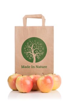 Free Paper Bag With Apples Royalty Free Stock Images - 36462419