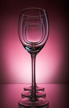 Free Three Wine Glass On A Burgundy Background Royalty Free Stock Photos - 36462848