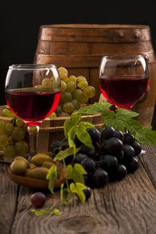 Grapes And Wine Royalty Free Stock Photo