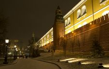 Free Russia. Moscow. Winter. Night Lighting. Stock Image - 36464061