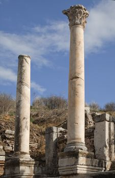 Ancient Greek Town Of Ephesus In Turkey Stock Photo
