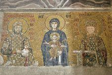 Free Hagia Sofia Mosaic Royalty Free Stock Image - 36466496