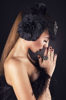 Beautiful Girl With Accessory Royalty Free Stock Images