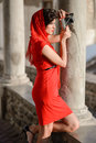 Free Beautiful Woman In Urban Background. Vintage Style Royalty Free Stock Photo - 36479915
