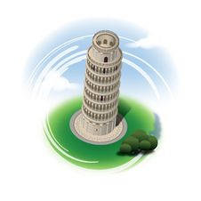 Leaning Tower Of Pisa Stock Photo