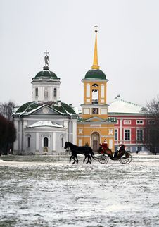 Free Temple In Moscow Park Royalty Free Stock Photos - 36474038