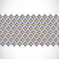 Vintage Seamless Pattern Banner Royalty Free Stock Photography