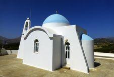 Free White Church On Crete Stock Image - 36479751