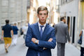Free Attractive Young Businessman In Urban Background Stock Photo - 36480180