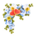 Free Pastel And Watercolor Painting Flowers And Hearts Royalty Free Stock Photos - 36485188